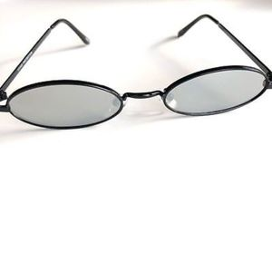 Accessories - CHROME Oval Ultra Slim Mirrored Lens Sunglasses